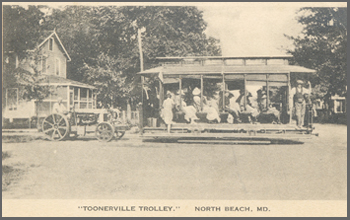 "The ""Toonerville Trolley"" in North Beach"